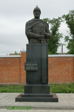 Зарайск (Московская область): Достопримечательность Памятник-бюст Д.Пожарскому