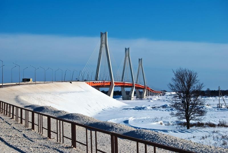 Фотография Вантовый мост через Оку (Муром (Владимирская область)) .