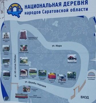 Саратов (Саратовская область): Достопримечательность Национальная деревня