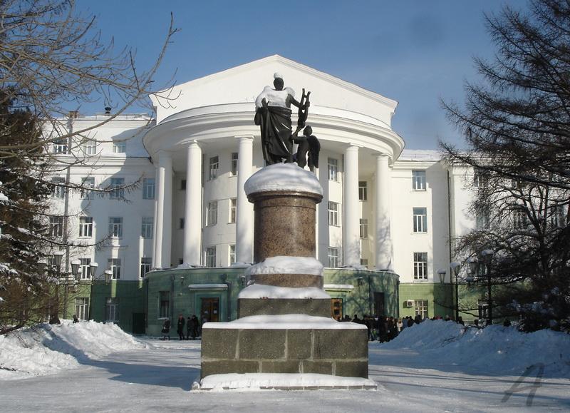 Фотография памятник ломоносову