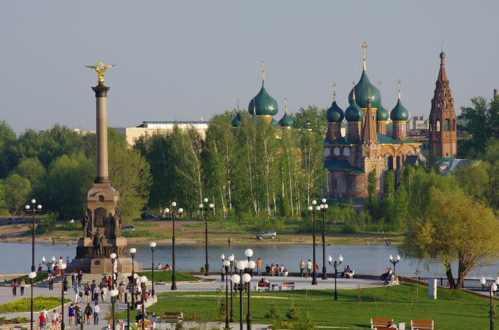 Парк и памятник 1000-летию Ярославля фотографии