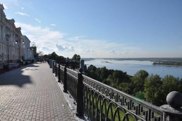 Нижний Новгород (Нижегородская область): Достопримечательность Верхневолжская набережная