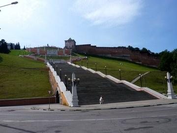 Нижний Новгород (Нижегородская область): Достопримечательность Чкаловская лестница