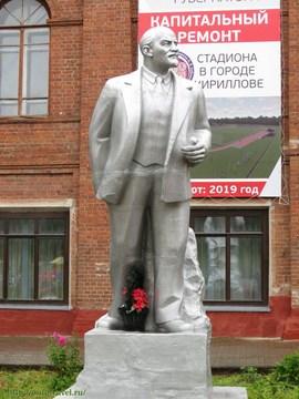 Кириллов (Вологодская область): Достопримечательность Памятник В.И.Ленину